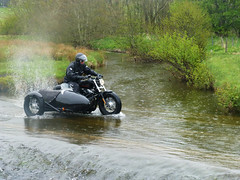 River Crossing by Chris (fatboyke (Luc)) Tags: bridge irish classic wet water river scotland funny crossing lol down harley hills davidson sportster borders scotish causeway bloopers charnwood cheviot gagreel streetglide