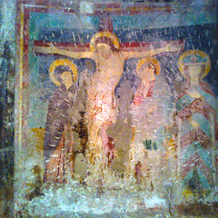 At fate's hands (Lumase) Tags: old wall square ancient christ cross faith prayer religion jesus crucifix fresco textured duomoditrento