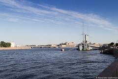 "Cruiser ""Aurora"" (galloper_) Tags: city sky water canon stpetersburg aurora saintpetersburg cruiser f4 neva cruiseraurora 600d 24105mm aivashintsov ivashintsov"