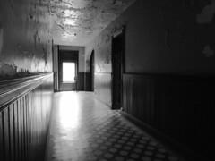 Dark hallway1 (dieverdog) Tags: blackandwhite scary moody eerie haunted creepy prison ghostly
