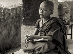 solitude#!3 (Dr Anirban Ray) Tags: street portrait india photography photographer child candid monk best tibet monastery studying sikkim scriptures gangtok rumtek buddhit