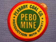 Peabody Coal Company, Pebo Mine patch (Coalminer5) Tags: mining patch coal peabody miner miners coalminer coalmining sewonpatch peabodycoal powerforprogress peabodyenergy coalmemorabilia miningmemorabilia miningcollectible