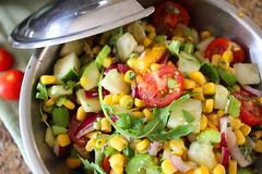 Green Chili Relish (Vegan Feast Catering) Tags: tomato vegan corn mango cilantro celery cucumbers redonion arugula redpeppers andmore greenchilies organicveganandgmofree