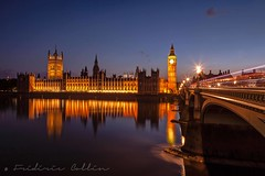 House of Parliament and Big Ben Tower from South Bank at dusk (lathuy) Tags: city uk greatbritain bridge england house bus london tower westminster thames night canon underground big tour ben unitedkingdom dusk cab taxi tube parliament londres pont angleterre 5d ru nuit lumineux traits royaumeuni grandebretagne 24105mm trainées embankement impériale lumineuses