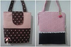 bolsas (Andreza Muniz) Tags: cute rosa bolsa totebag tecido oncinha sacola poá marromerosa