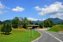 Curved Roads that Pass Through the Village of St Wolfgang (jerryjcwu) Tags: travel summer landscape austria countryside scenery europe nikkor alpinevillage d600 stwolfgang badischl alpinegrassland afsnikkor28mmf18g