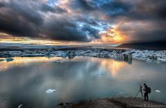 Photographers Paradise (Kristinn R.) Tags: sky sun clouds iceland nikon lagoon glacier jökulsárlón d3x nikonphotography breiðamerkursandur kristinnr