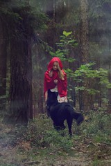 (Anastasia Prilisch) Tags: red dog girl forest woods wolf little riding littleredridinghood hood fairytales
