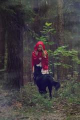 (Anastasia Prilisch) Tags: red dog girl forest woods wolf little riding littleredridinghood hood fairytales
