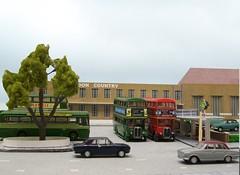 St Albans bus garage (kingsway john) Tags: kingsway models card kit bus garage 176 scale london transport country efe rf rt model londontransportmodel diorama oo gauge miniature