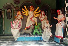 Colouring Complete! (AmitabhaGupta) Tags: festival kolkata bengal colouring calcutta durgapuja mahalaya festivalsofbengal festivalsofwestbengal bonedibarirpujo banedibarirpujo sreemanibari