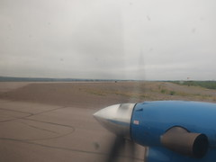 Taxiing for take-off at YEV in a Beechcraft 1900D (jimbob_malone) Tags: plane northwestterritories inuvik 2013