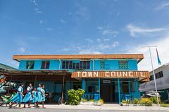 Funafuti Town Council (GlobalGoebel) Tags: school girls 3 canon walking children island eos polynesia town pacific mark iii council 5d atoll polynesian towncouncil mark3 markiii 24105mm canonef24105mmf4lisusm tuvalu funafuti fongafale kaupule