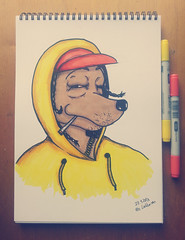 Snoop Doge (Ruse.) Tags: me illustration am drawing who juice g otto hiphop doggy but hip hop rap gin doggystyle homies markers snoop dogg 90s snoopdogg doge thang ruse nuthin doggfather loikkanen artotto