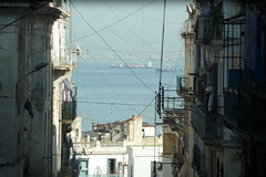 Alger (max rocker) Tags: africa street sea house architecture port la algeria mediterranean ship view harbour balcony north cable scene maghreb blanche algrie freighter afrique algiers algerien