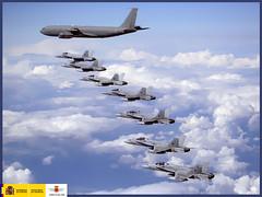 Premios Fotografía 2008 accésit colección: Espíritu minino (Hacia Alaska) (Ejército del Aire Ministerio de Defensa España) Tags: f18 2008 premios aviones fotografía cazas