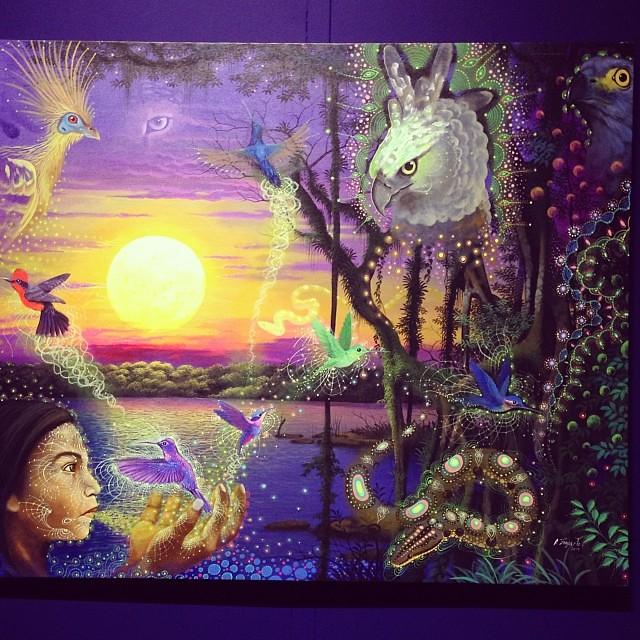 """Alfredo Zagaceta Cometivos """"Usko Ayar"""" • """"La escuela de las Visiones"""" #art #arteenlima #artinlima #arte #artist #artista #painting #pintura"""