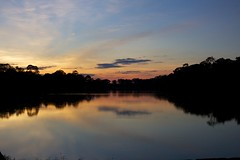 Sunset over the moat of Angkor Wat (awalkerca) Tags: sunset cambodia angkorwat