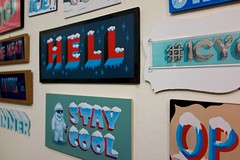#icycaps Show (scottboms) Tags: show california gallery events sanjose exhibition handpainted signpainting icycaps