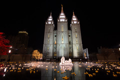 Temple Square at Christmas (Flickr_Rick) Tags: christmas winter cold outside utah celebration saltlakecity templesquare