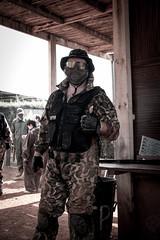 To battle (JF Sebastian) Tags: portrait friend mask hut airsoft bleachbypass morethan100visits protectionvest fujifilmxe11855