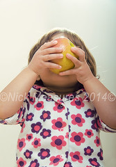 One Big Apple! (Scooby53) Tags: uk family portrait england people food baby cute apple beauty childhood fruit kids photoshop children fun creativity idea nikon child gloucestershire babygirl getty studioshot motherhood fatherhood gettyimages homestudio realpeople strobist familyuk scooby53 gettyuk welcomeuk