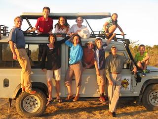Family on vehicle