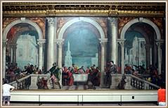 «Le Repas chez Lévi» est une huile sur toile gigantesque, mesurant plus de 13 mètres par 5 mètres 50. Elle était autrefois destinée au réfectoire des moines dominicains du monastère vénitien Zanipolo. Elle est devenue une œuvre emblématique... (Barbara DALMAZZO-TEMPEL) Tags: venice italy italia venise venezia italie galleria véronèse paolocaliari lerepaschezlévi dellacademia