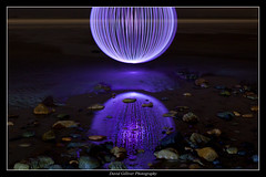 Searching within (Pikebubbles) Tags: ocean longexposure nightphotography blue winter sea lightpainting reflection beach water reflections puddle coast sand purple stones orb reflect february orbs guernsey nightography davidgilliver lightjunkies davidgilliverphotography