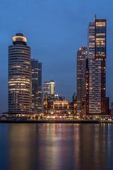 Wilhelminapier Rotterdam (MBarendse) Tags: urban panorama skyline night skyscraper rotterdam nightshot wilhelminapier katendrecht