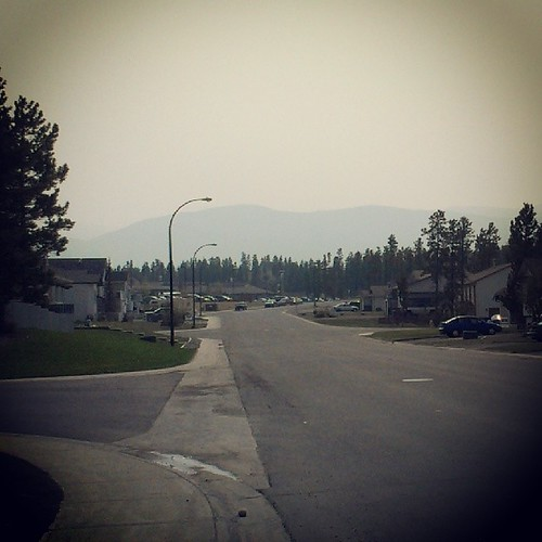 Haze from #Alaska #fire blankets #yxy #Yukon mountains