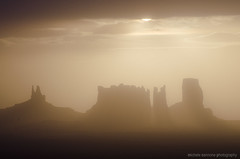 Monument Valley silhouette at sunrise (Michele Cannone) Tags: usa monument silhouette america sunrise valley
