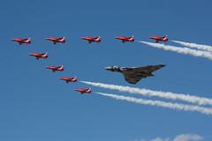 Red Delta (Al Henderson) Tags: tattoo aviation military air airshow vulcan raf avro fairford riat xh558 gvlcn