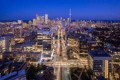 Split (Michael Muraz) Tags: world city nightphotography toronto ontario canada building night town twilight cityscape nightscape dusk aerial queenspark northamerica bluehour aerialphotography on drone 2015 dronephotography
