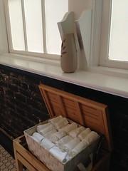(not so) Genius Idea: Putting Auto-Spray Air Freshener at Eye Level, Atop Handtowel Supply in Bathroom at Saltine, Jackson MS (Deep Fried Kudzu) Tags: notgood saltine jackson mississippi terrible idea automatic air freshener bathroom restroom