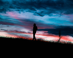 Hunting stars. (leonardocenteno1) Tags: sky sunset landscape atardecer cielo colombia boyacá silueta silhouette nikon d3300