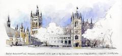 London.WestminsterAbbey.SBOWER (stephanieabower) Tags: stephaniebower understandingperspective sketch londonarchitecture westminsterabbey watercolor