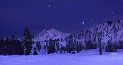 Mt Shuksan at Night (Mt Baker Ski Area, Heather Meadows). (Sveta Imnadze) Tags: nightsky stars mtshuksan mtbakernf wa pacificnorthwest