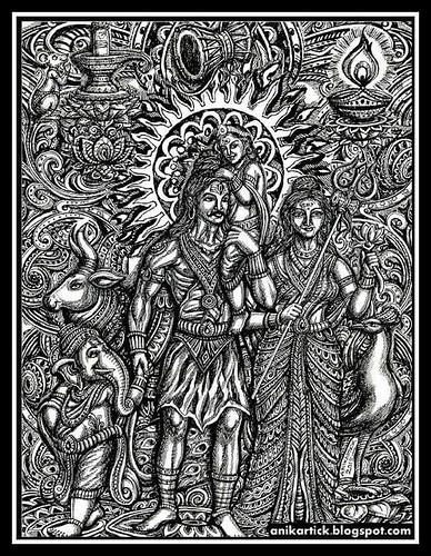 LORD SHIVA / ART / DRAWING / CONCEPT / CREATIVE ART / Anikartick
