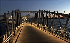 1034-PUENTE DE MADERA EN HAMBURGO (--MARCO POLO--) Tags: ocasos ciudades rincones puentes puertos atardeceres