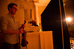 David Kilgallon (Mec Lir) backstage. (photo: Steve Wadden)