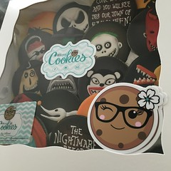 Nightmare Before Christmas Boxed (cREEative_Cookies) Tags: creeatve cookies ree halloween hallows dia delos muertos candy skulls typography sugar art decorated cookie decorating party theme desserts holiday dessert zombie eyeball nightmare before christmas jack skellington sandy cupcakes spiders pumpkins jackolanterns leaves platter ghosts corn bats blood bloody cut finger ears butcher 3d