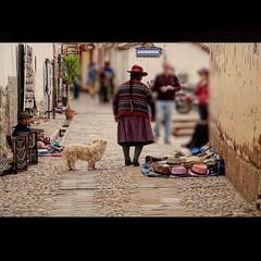 Peruvian woman with a dog! (saadia_khans) Tags: peruviandress doglove animal dog peruvian streets streetstroke streetart streetscene streetphotography street cobblestone hats vendor peruvianwoman cusco peru instagramapp square squareformat iphoneography ashby