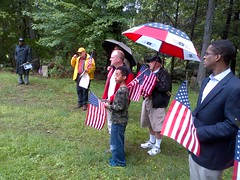 NAACP's Tom Kissner and Port Chester's Joe Kenner attended the services (Jay Heritage Center) Tags: street ny building heritage history cemetery dave town george community memorial war day jay otis mayor bell thomas senator african steve north bridges landmark center joe rye civil american soldiers kenner samuel veterans westchester pagano latimer portchester carvin assemblyman descendants