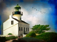 Old Point Loma Lighthouse (jackaloha2 (Away)) Tags: california texture photoshop ptloma coastline ligthouse texturedlayers bestcapturesaoi jackaloha2 photoshopcs5 vigilantphotographersunite vpu2