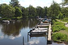 Säveån (Anders Löfgren) Tags: bridge water boat sweden alingsås säveån