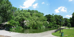 Morningside Park Pond (jschumacher) Tags: nyc panorama gothamist stitched morningsidepark