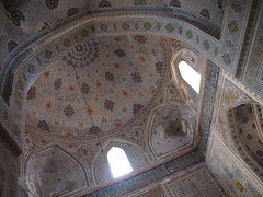 Uzbekistan 2013 (hunbille) Tags: uzbekistan shakhrisabz kok gumbaz mosque kokgumbaz ceiling