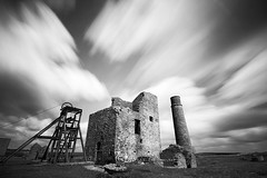 Magpie mine.... (Digital Diary........) Tags: longexposure blackandwhite bw history clouds movement mood nostalgia le drama weldingglass