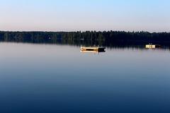Head Lake, Kawartha Lakes, Ontario (peter.kapakos) Tags: blue lake ontario water swimming sunrise dock floating photostream kawarthas